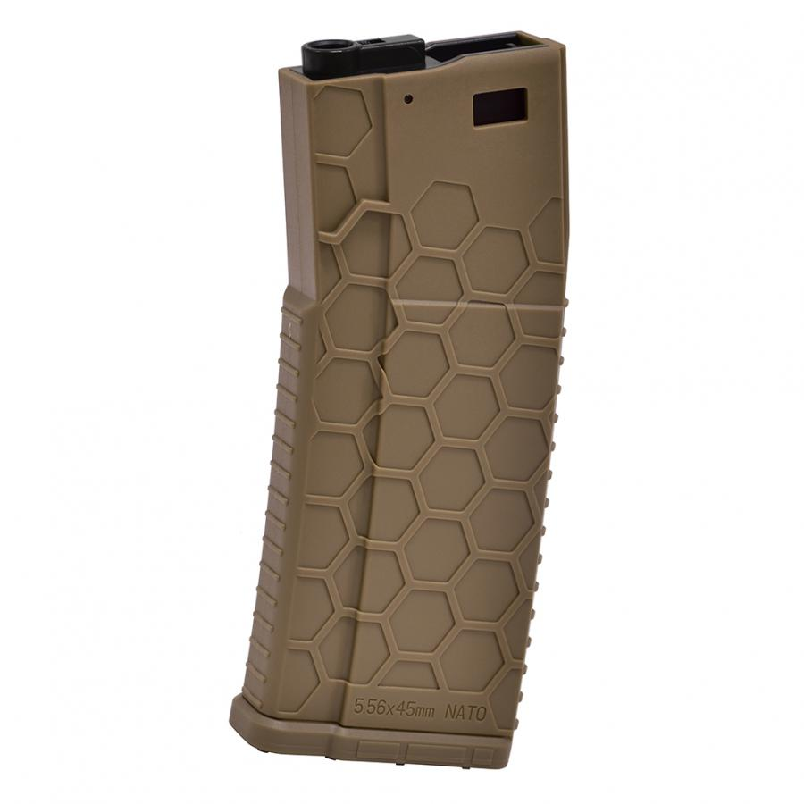 (HMA-MAG04-FDE) Hexmag Airsoft 300rds Pull String AEG Magazine (Dark Earth)